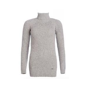 Barbour Roll Neck Grey Wool Turtleneck Sweater